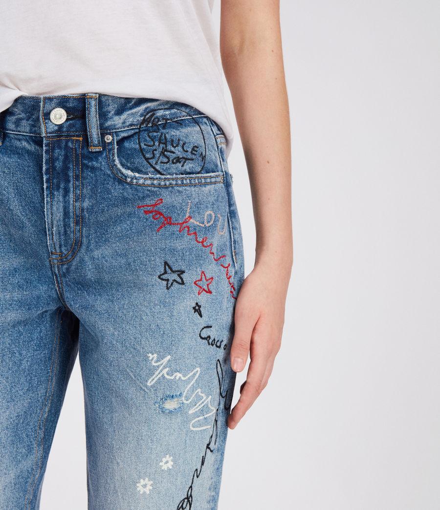 Women's Graff Boys Frayed Jeans (light_indigo_blue) - Image 2