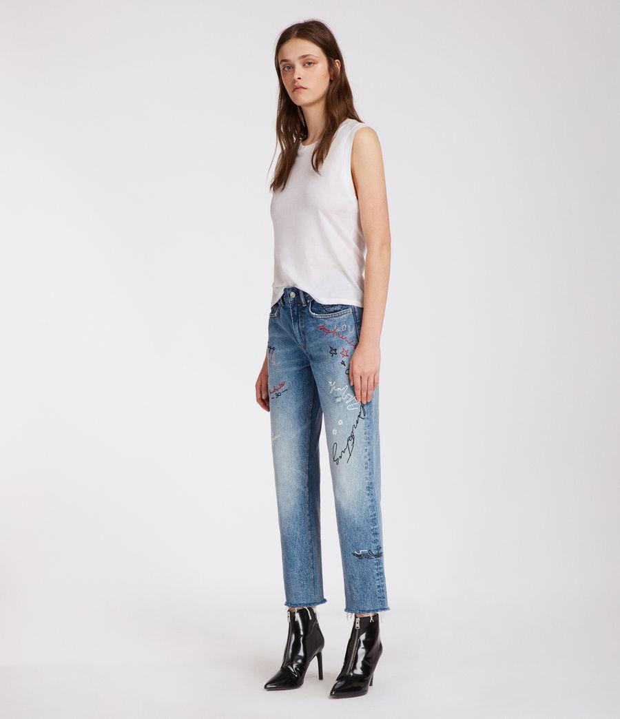 Women's Graff Boys Frayed Jeans (light_indigo_blue) - Image 3