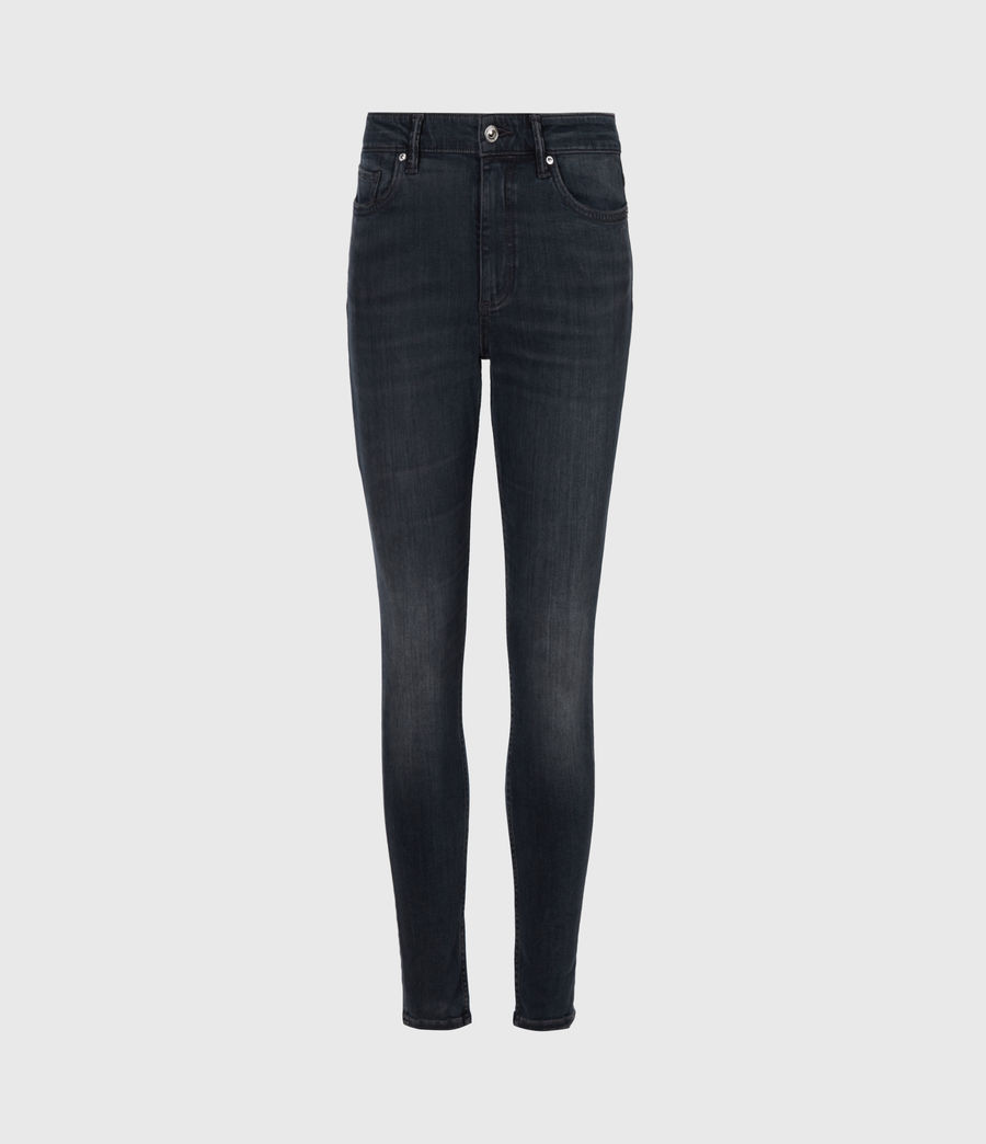 Women's Dax Cropped High-Rise Stetch Skinny Jeans, Blue Grey (blue_grey) - Image 2