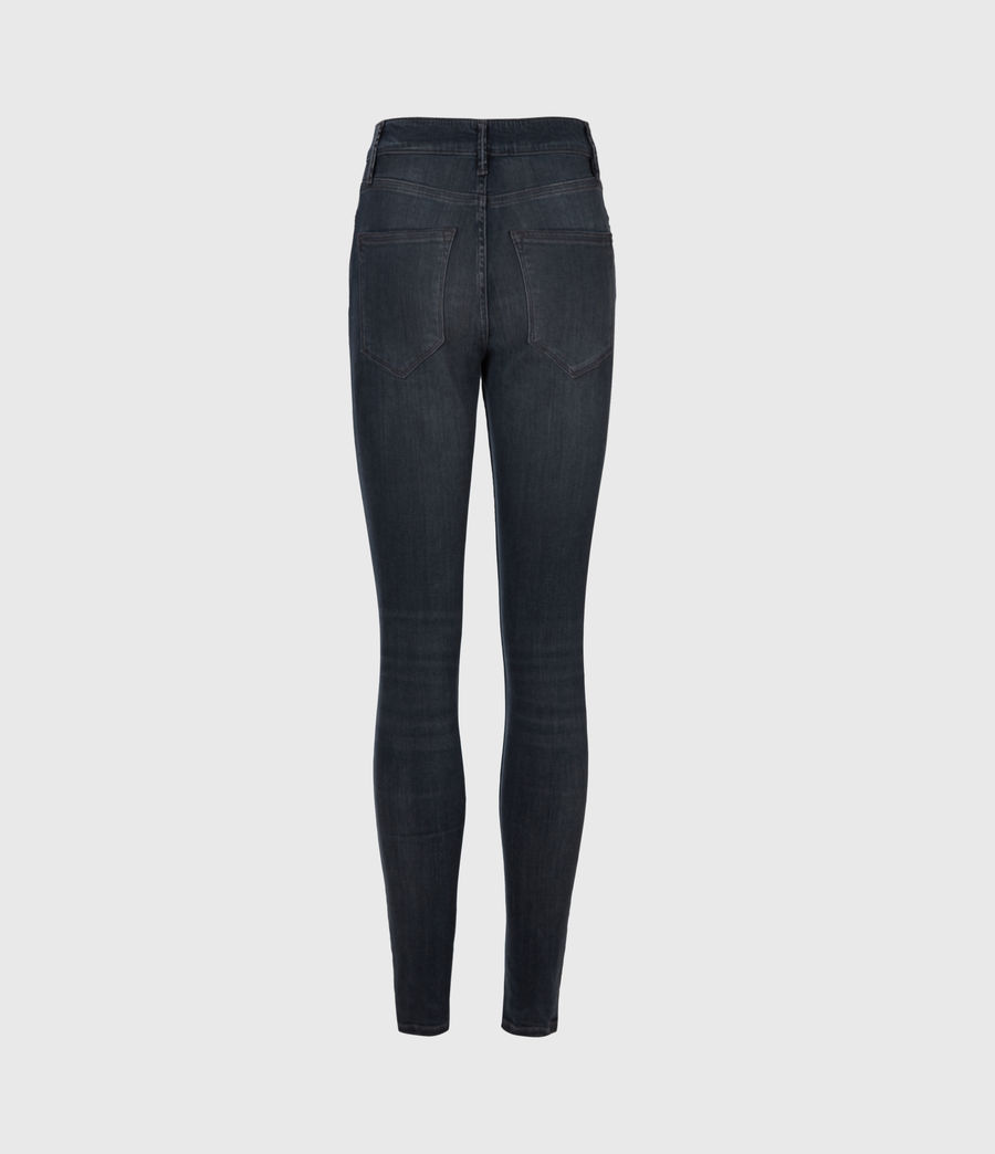 Women's Dax Cropped High-Rise Stetch Skinny Jeans, Blue Grey (blue_grey) - Image 3