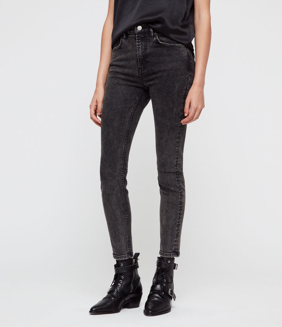 Womens Nyla Skinny Jean (washed_black) - Image 1