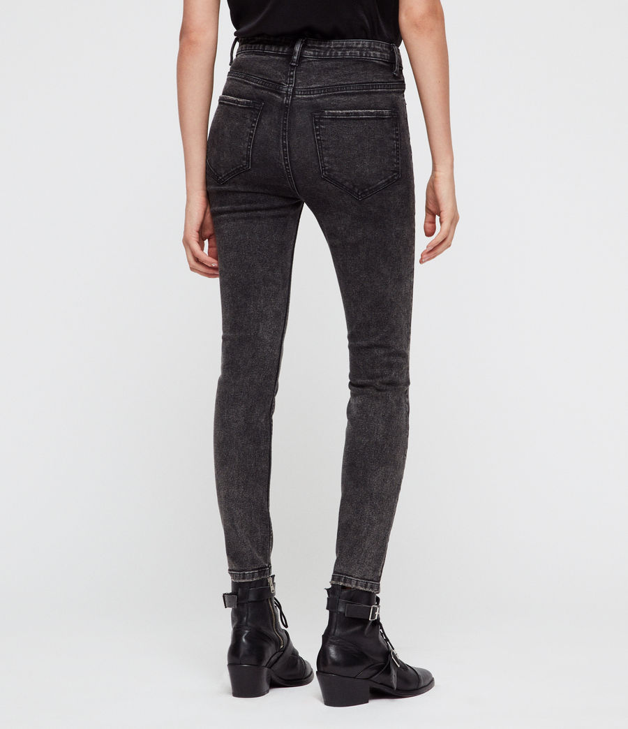 Womens Nyla Skinny Jeans (washed_black) - Image 4