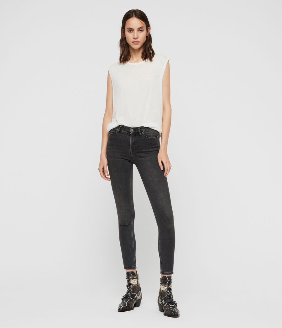 Women's Grace Skinny Jeans (washed_black) - Image 3