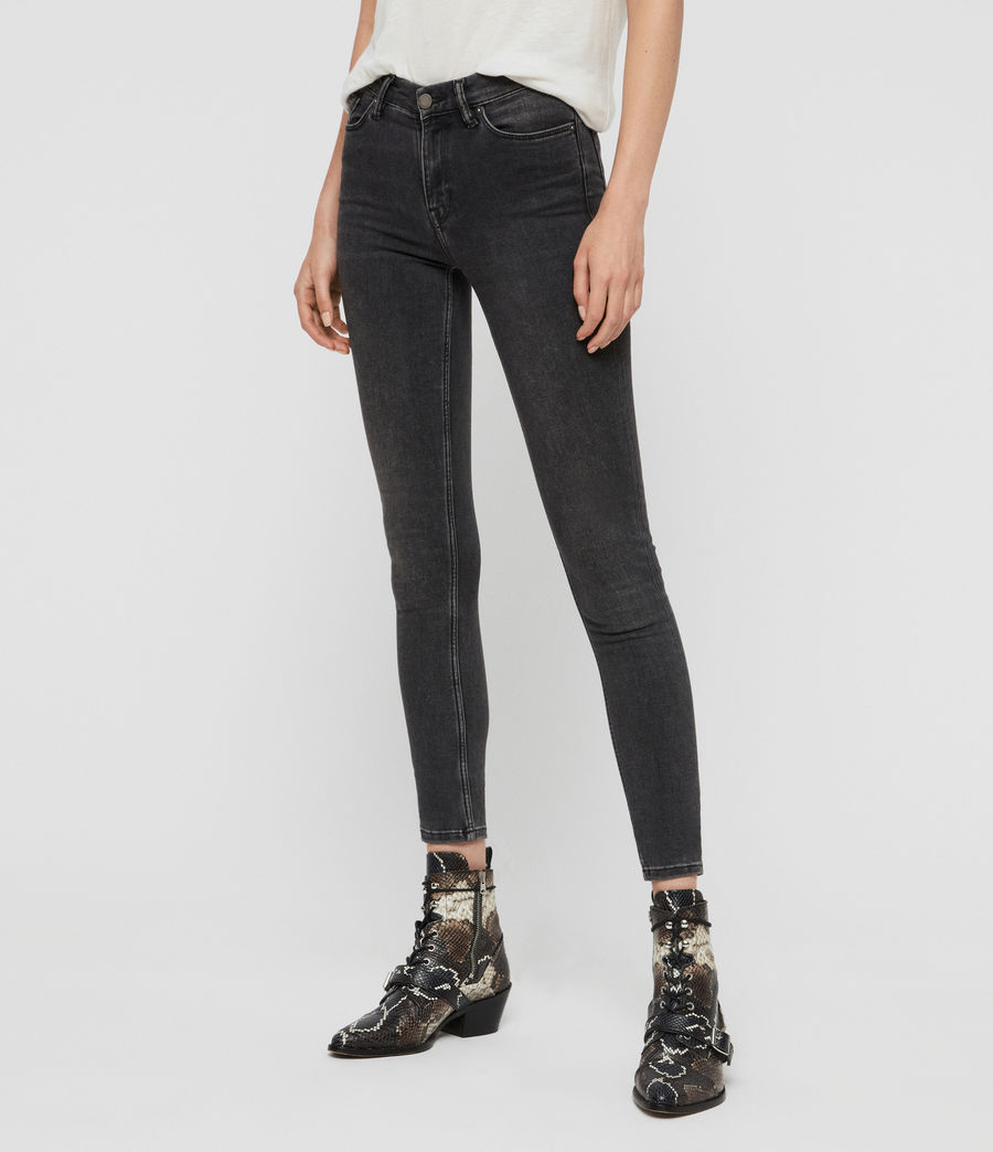 Women's Grace Skinny Jeans (washed_black) - Image 4