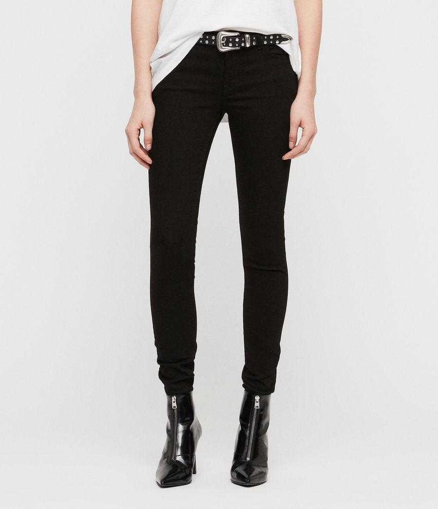 Womens Mast Skinny Low-Rise Jeans, Jet Black (jet_black) - Image 1