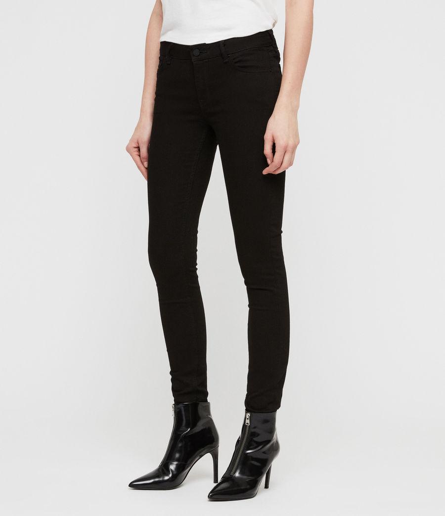 Womens Mast Skinny Low-Rise Jeans, Jet Black (jet_black) - Image 2