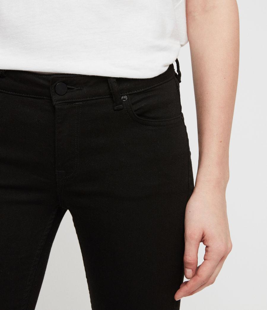 Womens Mast Skinny Low-Rise Jeans, Jet Black (jet_black) - Image 3