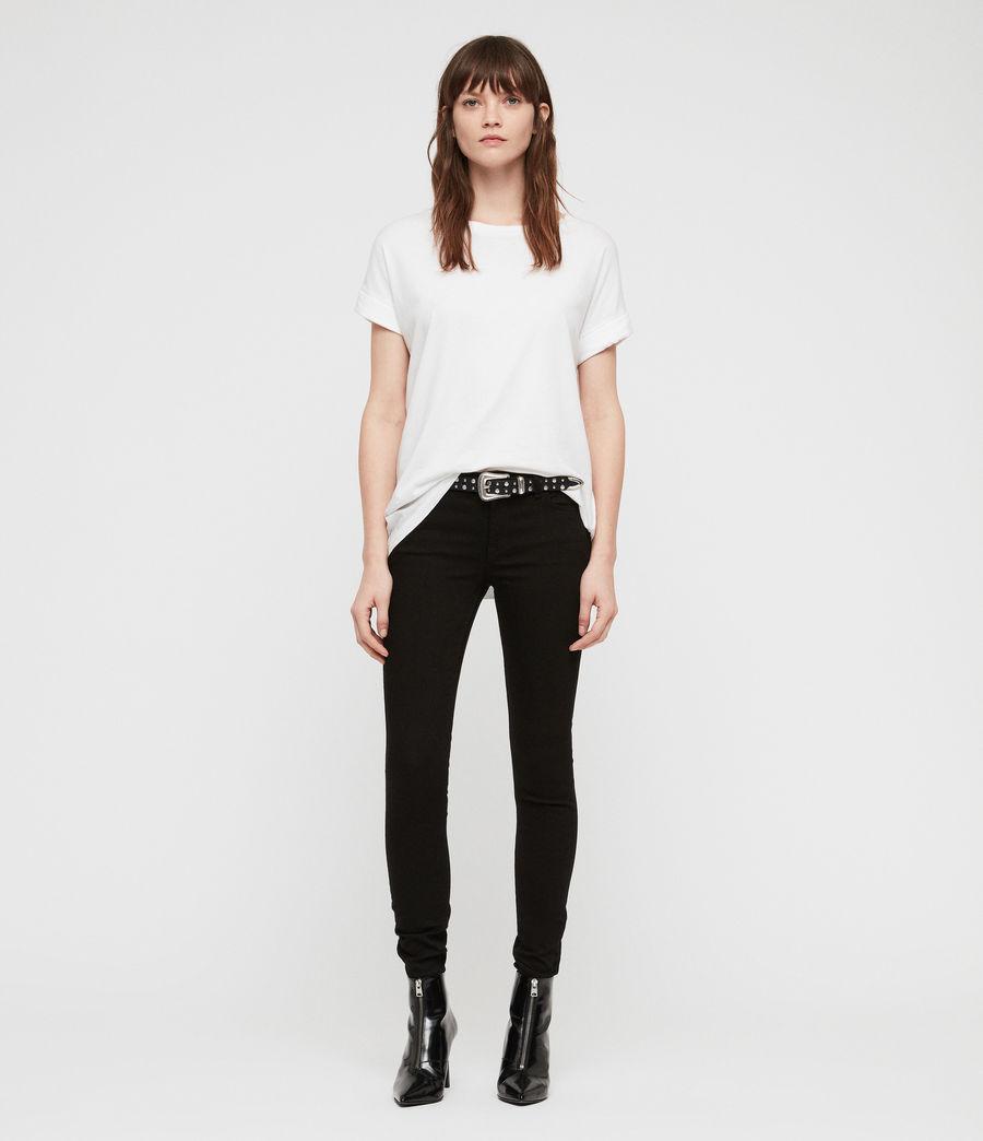 Womens Mast Skinny Low-Rise Jeans, Jet Black (jet_black) - Image 4
