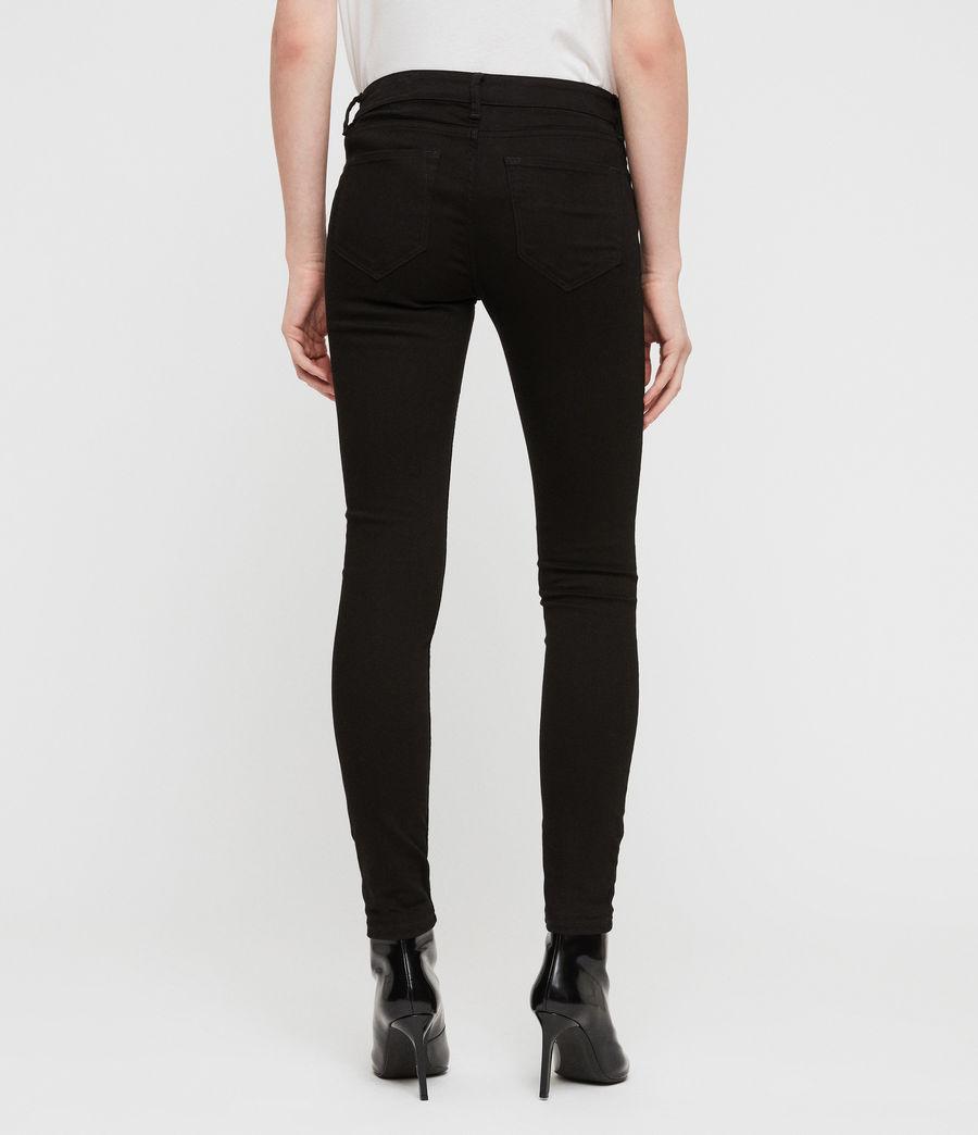 Womens Mast Skinny Low-Rise Jeans, Jet Black (jet_black) - Image 5