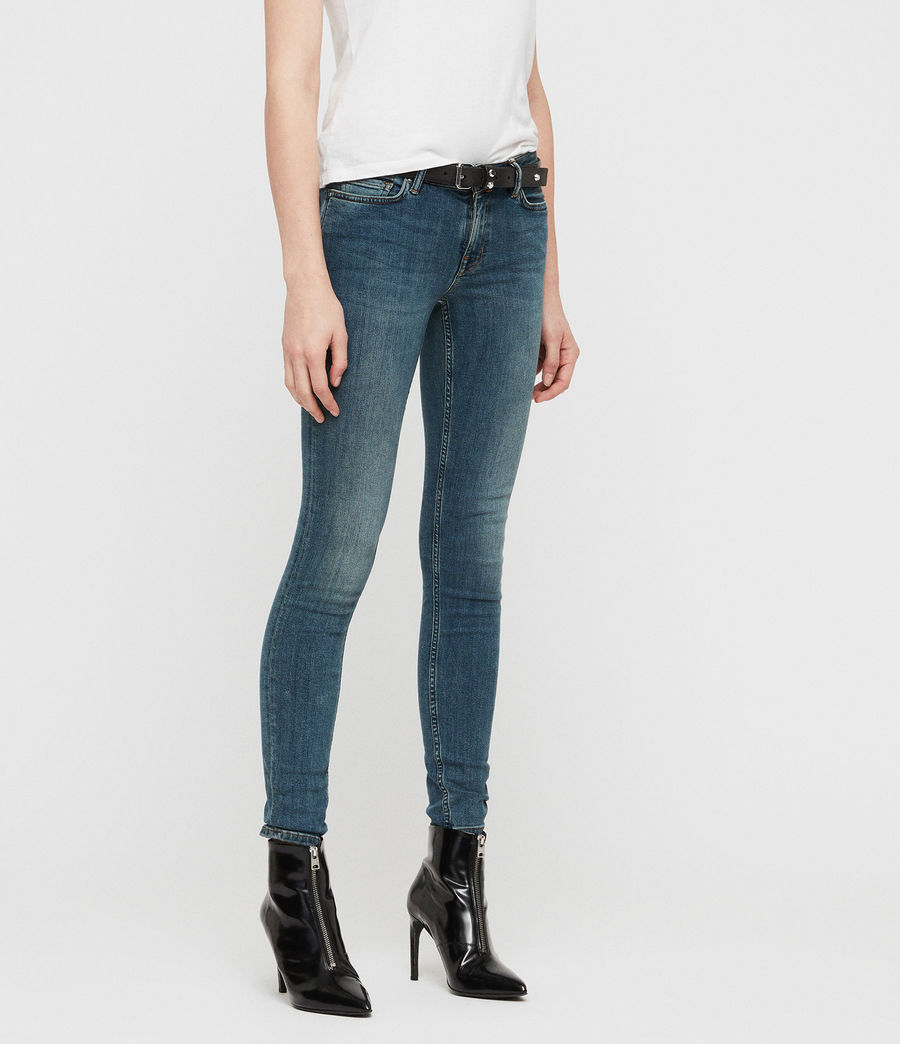 Womens Mast Skinny Low-Rise Jeans, Washed Indigo (washed_indigo) - Image 2