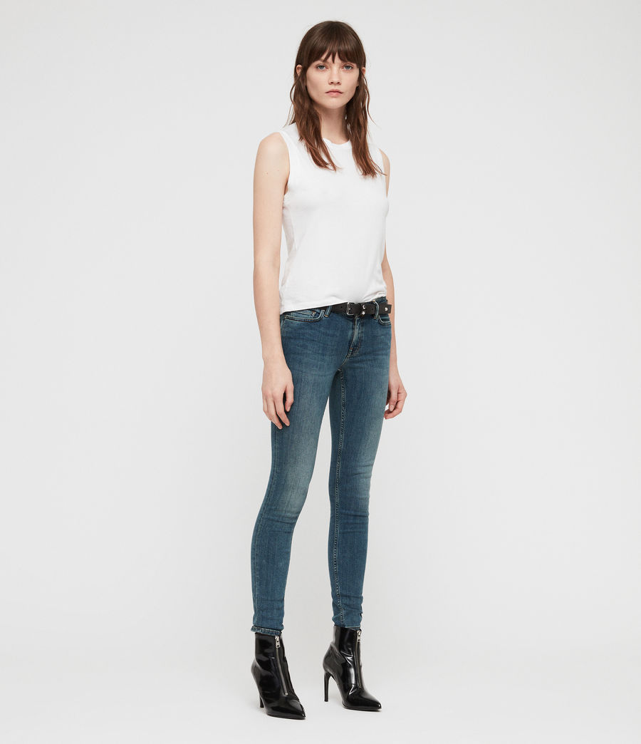 Womens Mast Skinny Low-Rise Jeans, Washed Indigo (washed_indigo) - Image 3