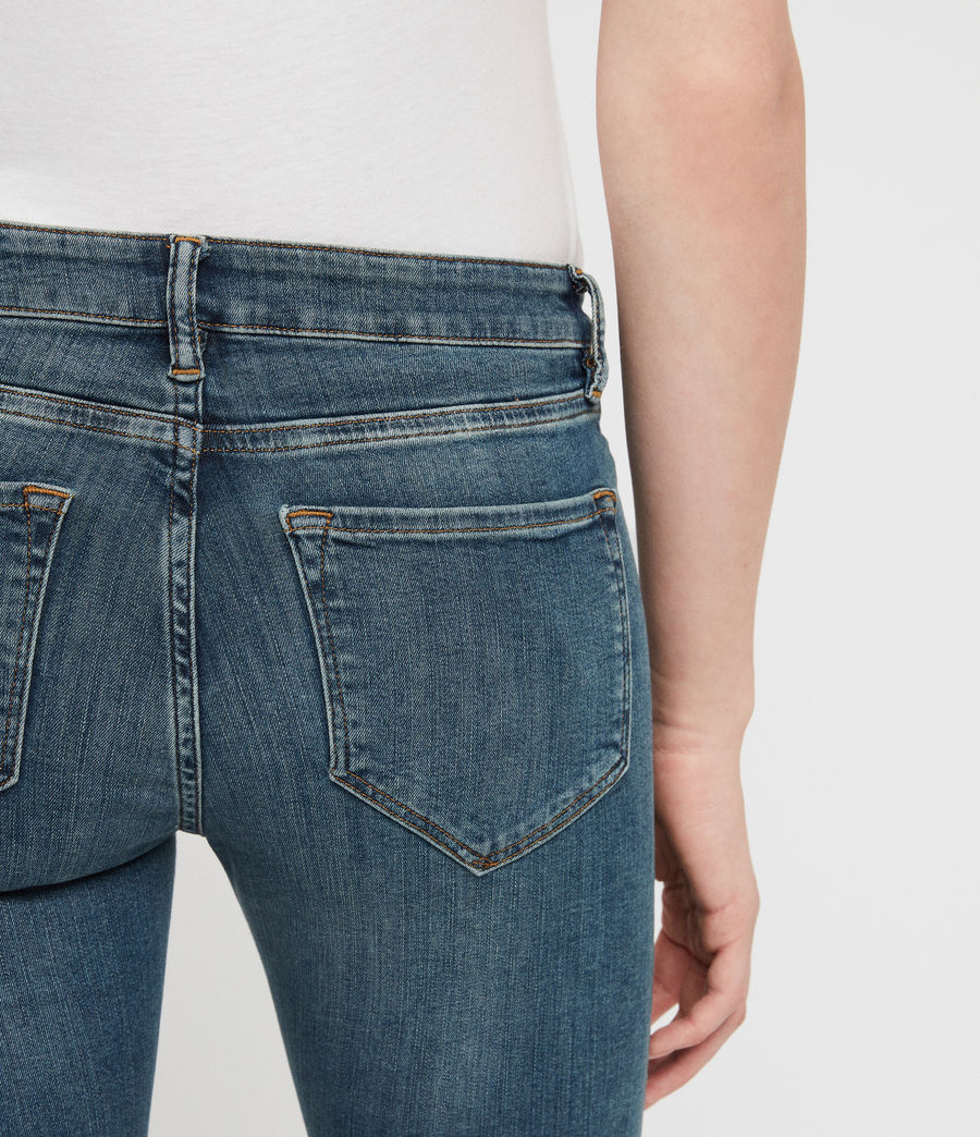 Womens Mast Skinny Low-Rise Jeans, Washed Indigo (washed_indigo) - Image 4