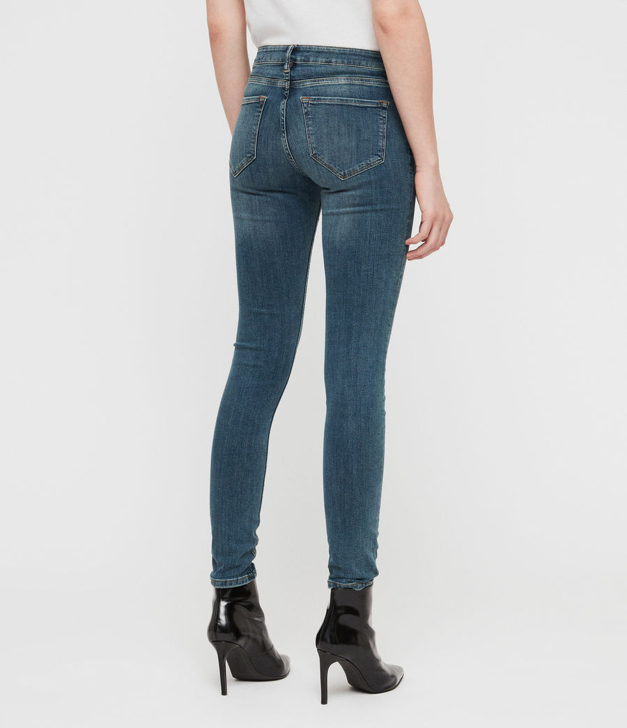 Womens Mast Skinny Low-Rise Jeans, Washed Indigo (washed_indigo) - Image 5