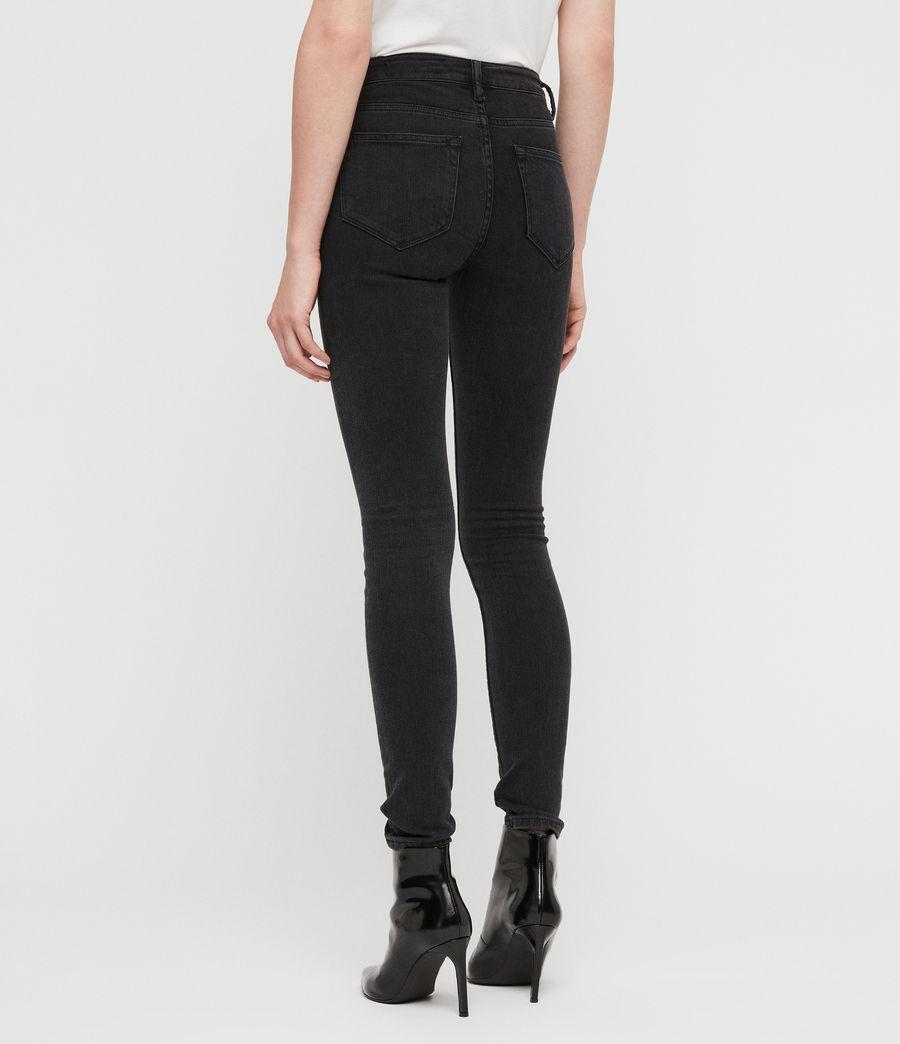 Women's Stilt High Waisted Skinny Jeans (dark_grey) - Image 5