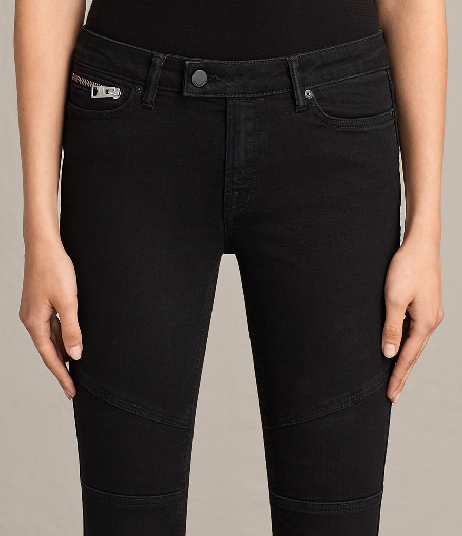 Damen Biker 7/8 Jeans (washed_black) - Image 3