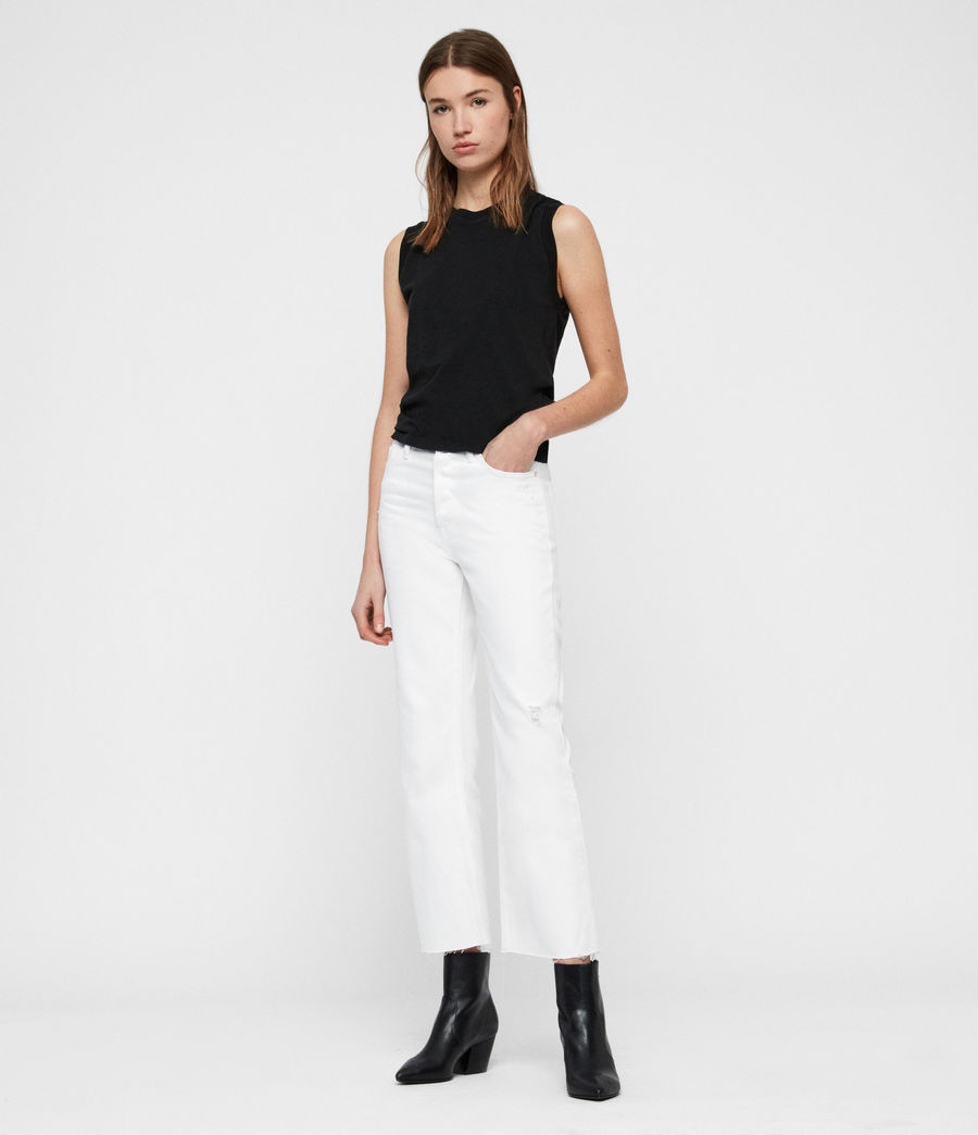 Women's Helle Crop Kickflare Jeans (white) - Image 2
