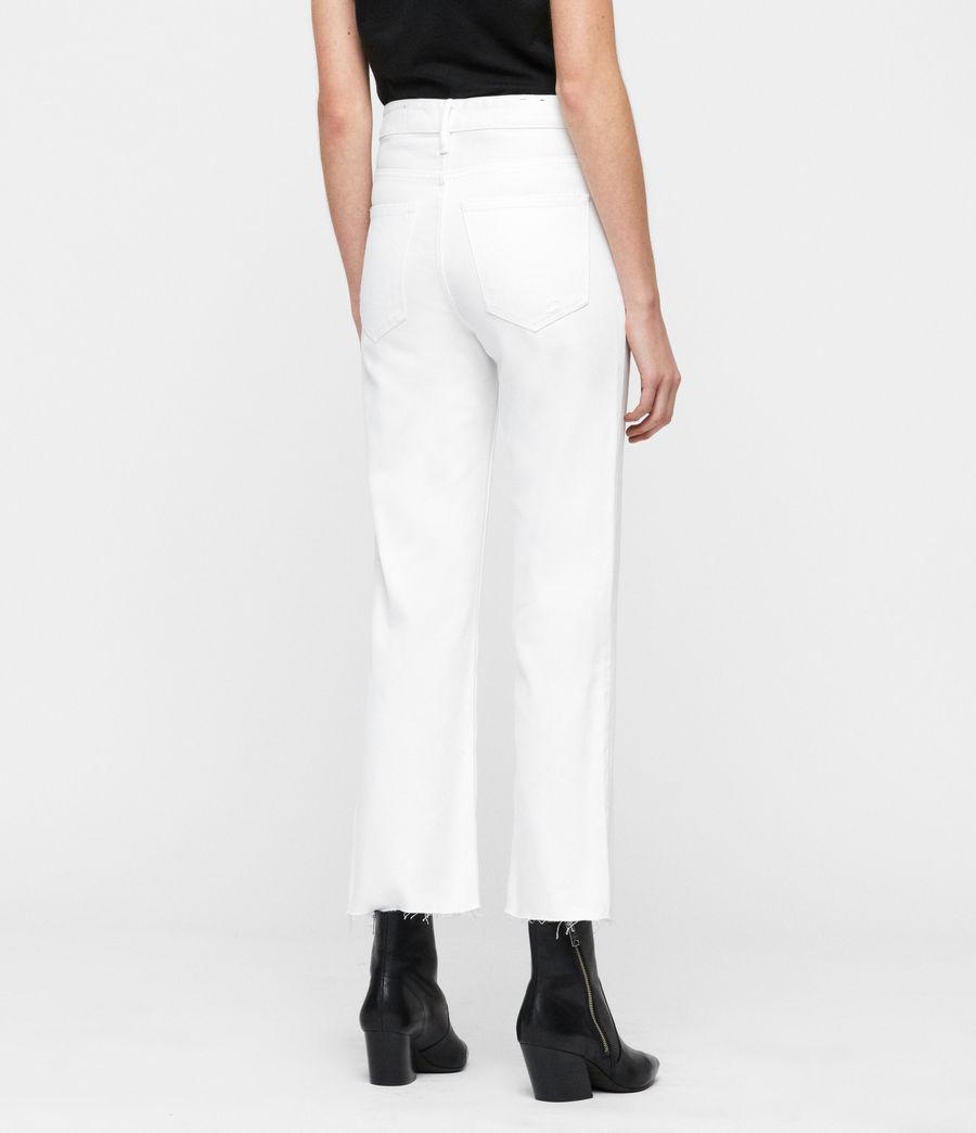 Women's Helle Crop Kickflare Jeans (white) - Image 5