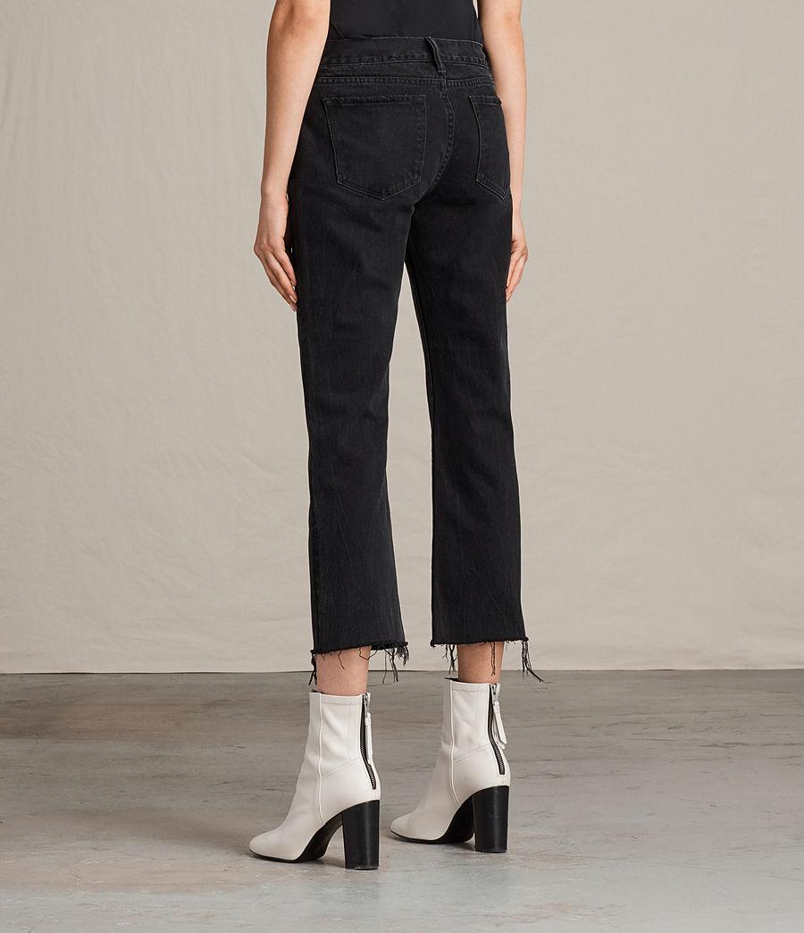 Donne Jeans Serene Cropped Kick (washed_black) - Image 2