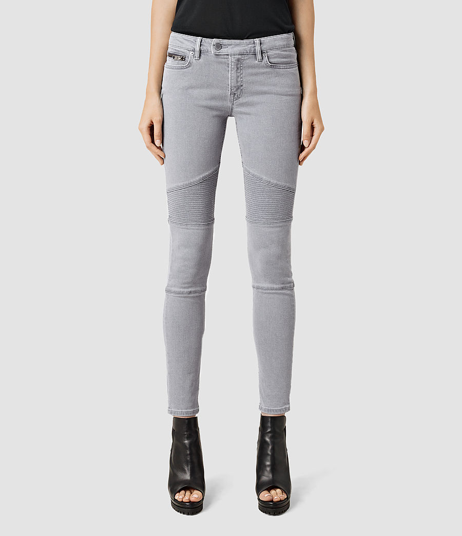 Womens Grey Jeans - Jeans Am