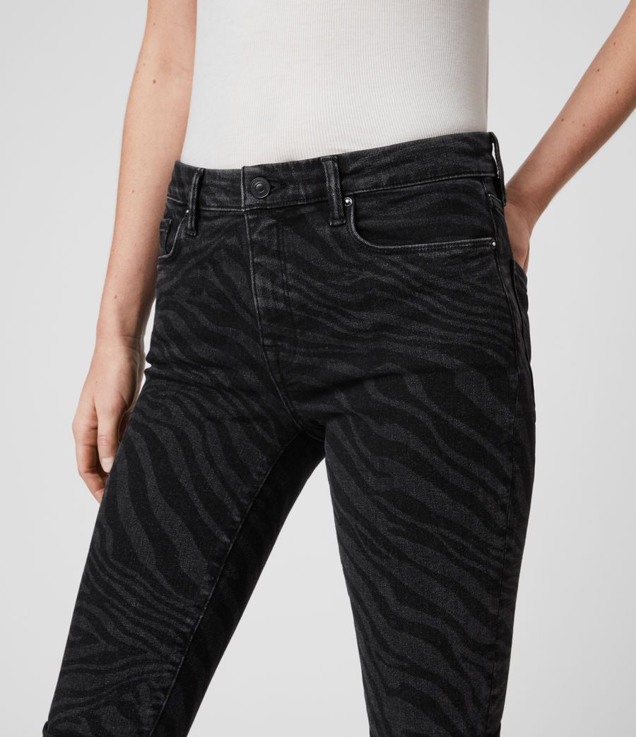 Womens Grace Seebra Ankle Skinny Mid-Rise Jeans, Black (black) - Image 2