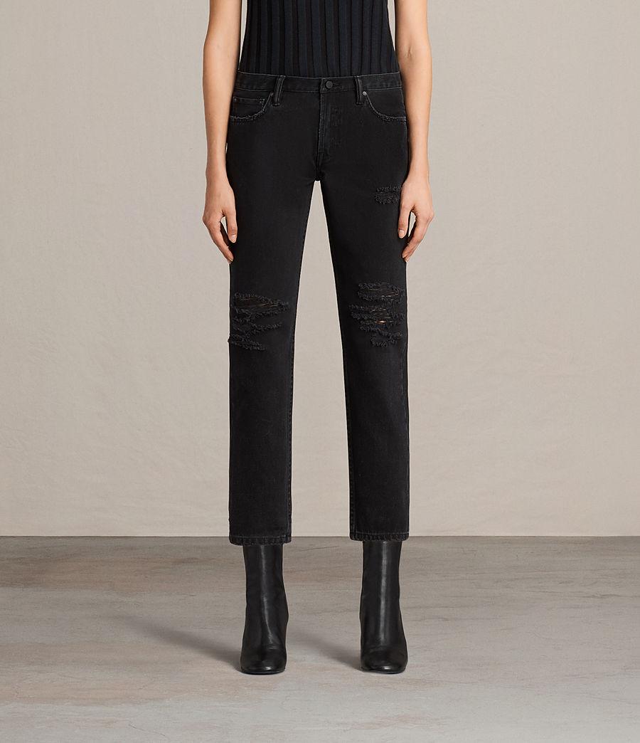 Damen Muse Slim Destroy Jeans (washed_black) - Image 1