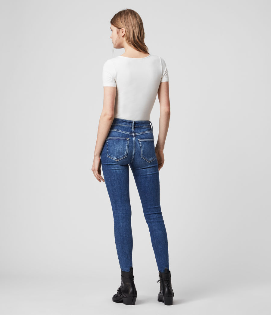 Womens Dax High-Rise Superstretch Shaping Skinny Jeans, Mid Indigo Blue (mid_indigo_blue) - Image 6