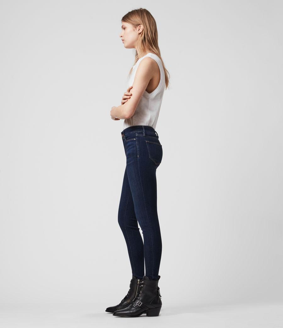 Damen Miller Mittel-Hochtailliert Skinny Jeans, Dunkles Indigo Blau (dark_indigo_blue) - Image 3