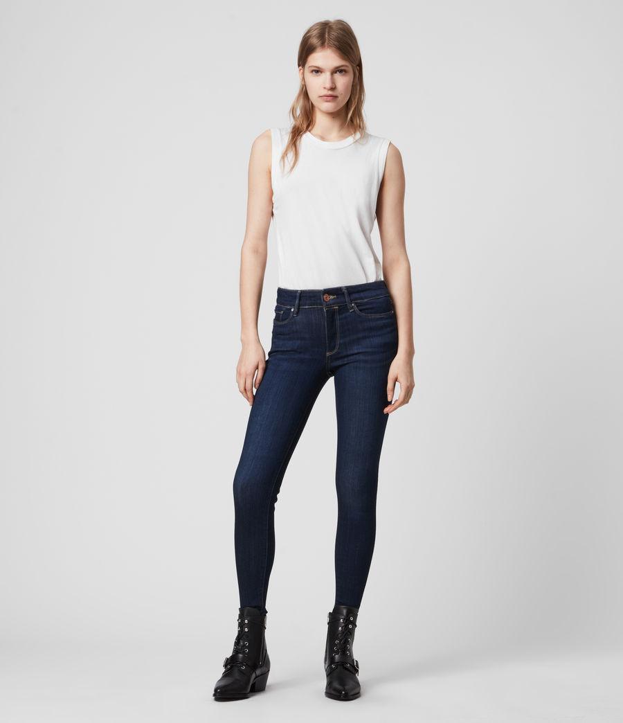 Damen Miller Mittel-Hochtailliert Skinny Jeans, Dunkles Indigo Blau (dark_indigo_blue) - Image 4