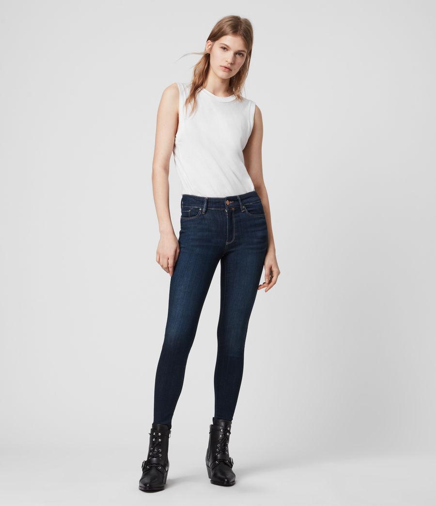 Damen Miller Mittel-Hochtailliert Skinny Jeans, Dunkles Indigo Blau (dark_indigo_blue) - Image 5