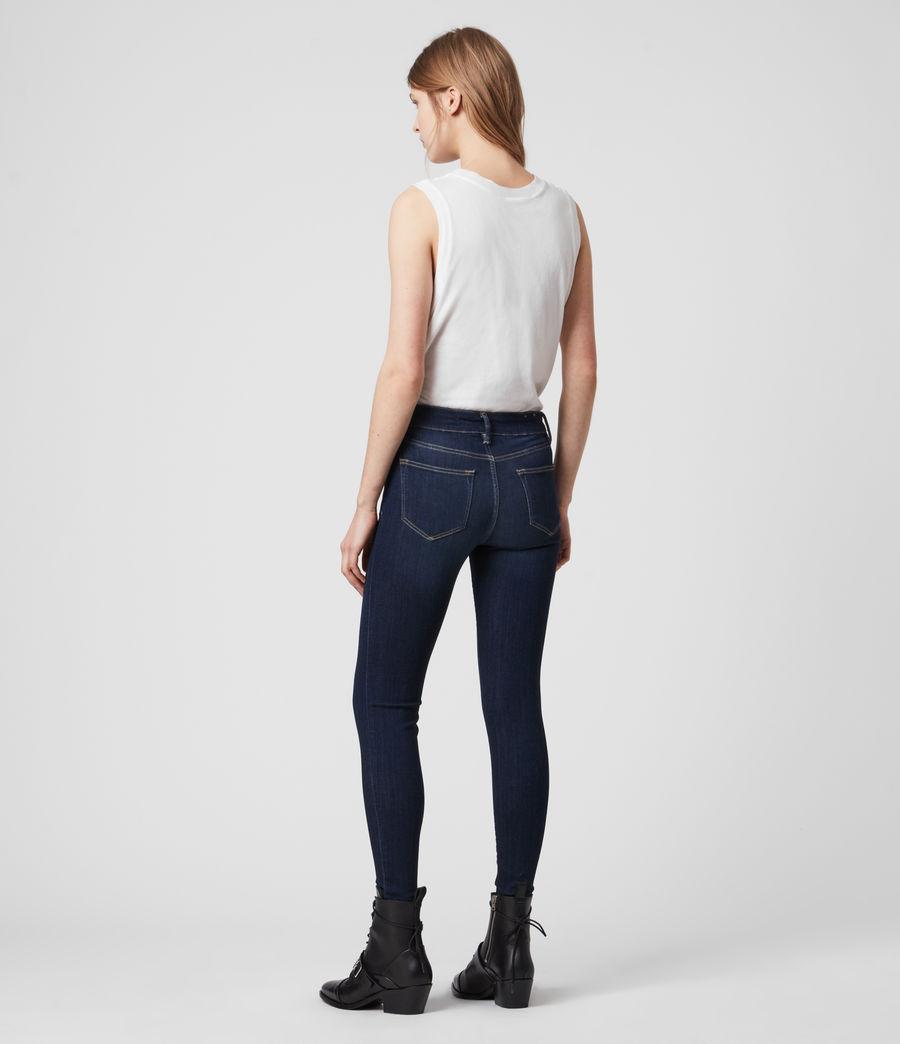 Damen Miller Mittel-Hochtailliert Skinny Jeans, Dunkles Indigo Blau (dark_indigo_blue) - Image 7