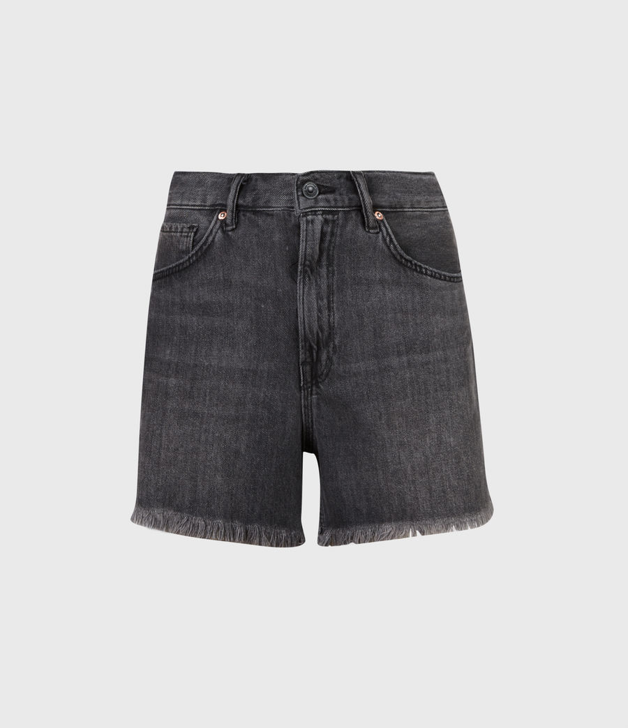 Mujer Yanni High-Rise Denim Shorts (washed_black) - Image 2