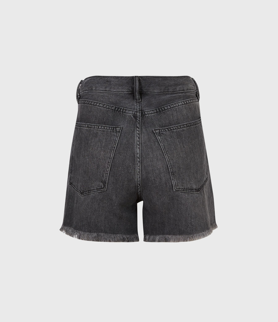Women's Yanni High-Rise Denim Shorts (washed_black) - Image 3
