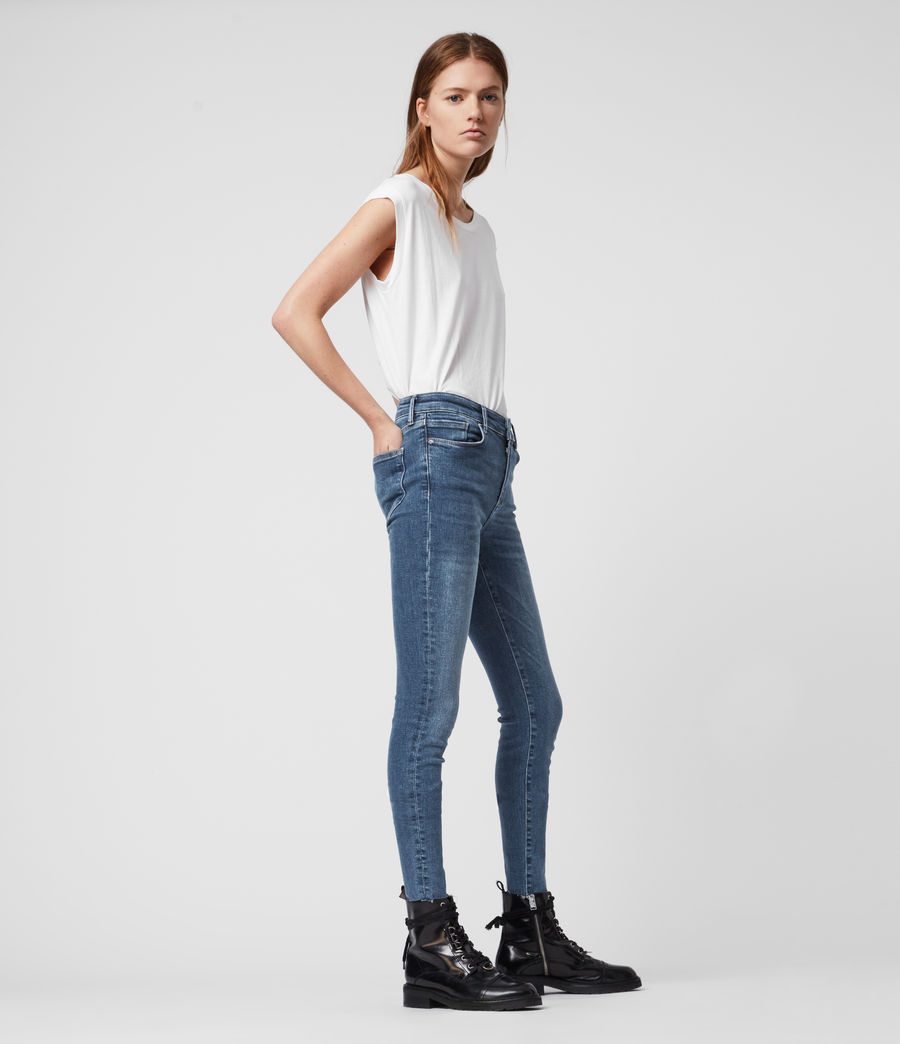 Womens Miller Mid-Rise Superstretch Skinny Jeans, Mid Indigo Blue (mid_indigo_blue) - Image 3
