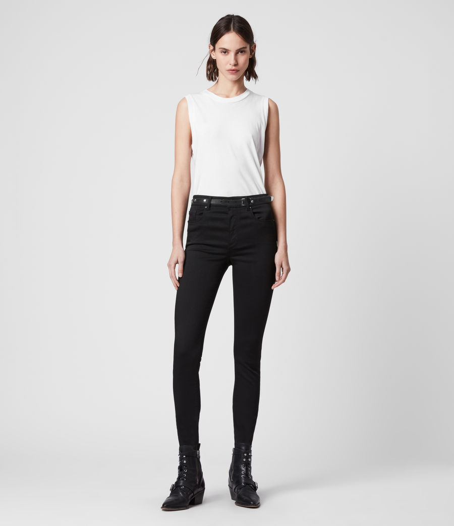 Womens Miller Mid-Rise Superstretch Skinny Jeans, Stay Black (stay_black) - Image 1