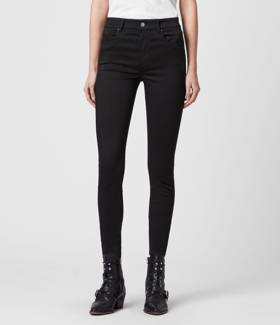 Womens Miller Mid-Rise Superstretch Skinny Jeans, Stay Black (stay_black) - Image 3