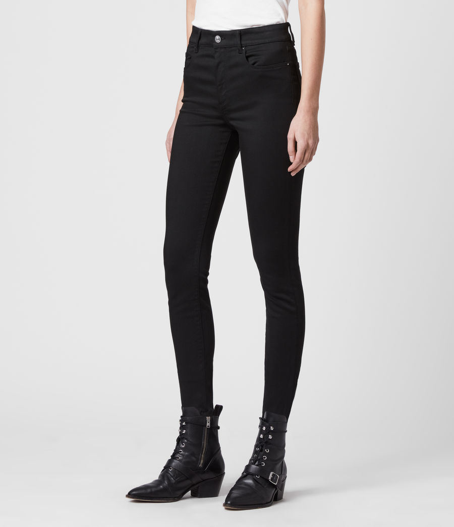 Womens Miller Mid-Rise Superstretch Skinny Jeans, Stay Black (stay_black) - Image 4