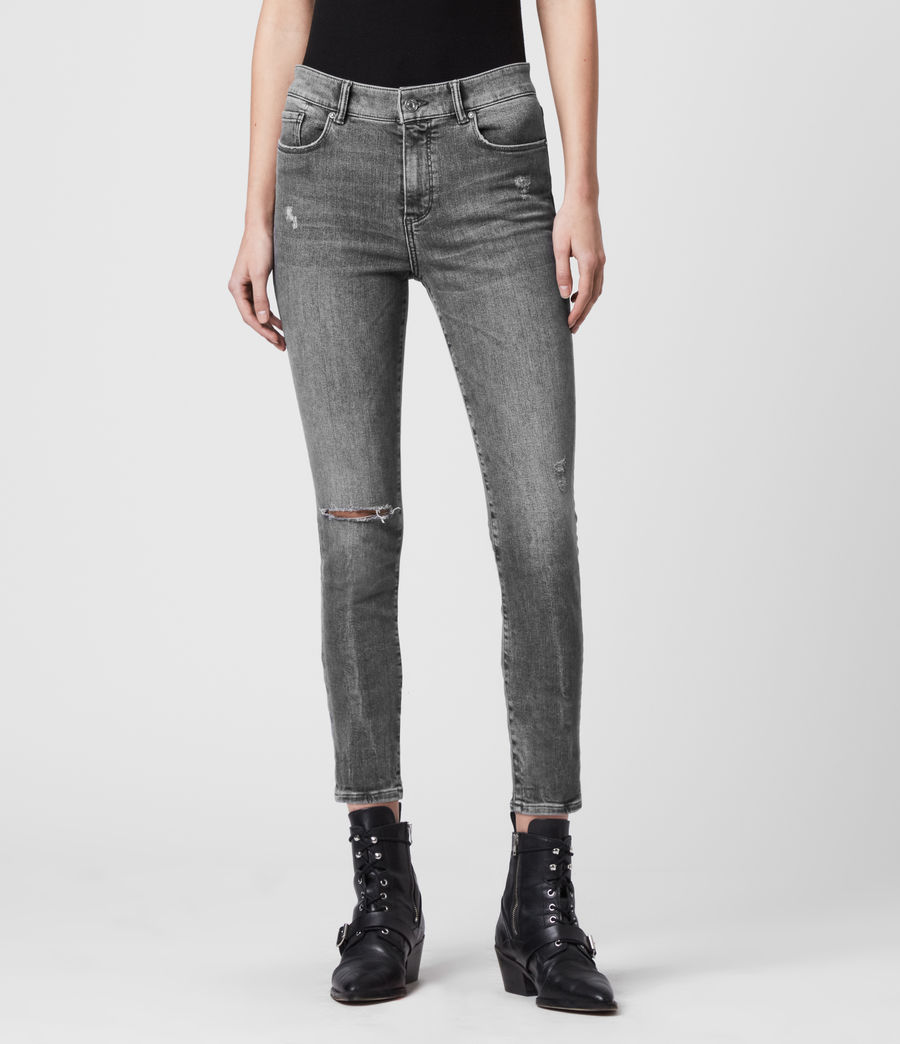 Donne Jeans Miller - Aderenti con vita media - Grigio (washed_grey) - Image 3