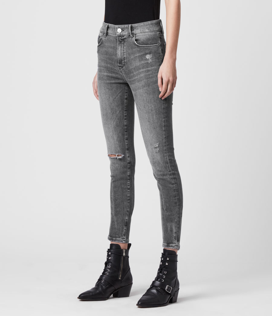 Donne Jeans Miller - Aderenti con vita media - Grigio (washed_grey) - Image 4