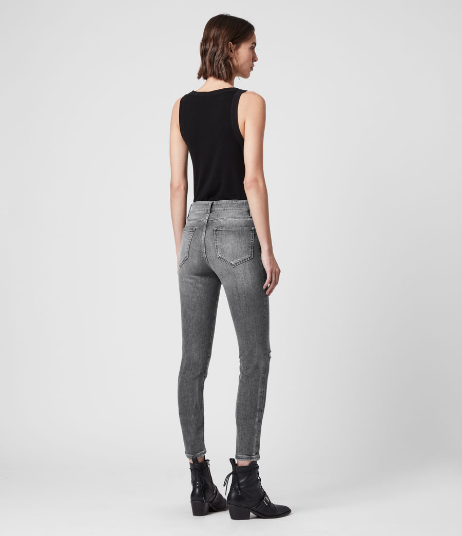 Donne Jeans Miller - Aderenti con vita media - Grigio (washed_grey) - Image 5