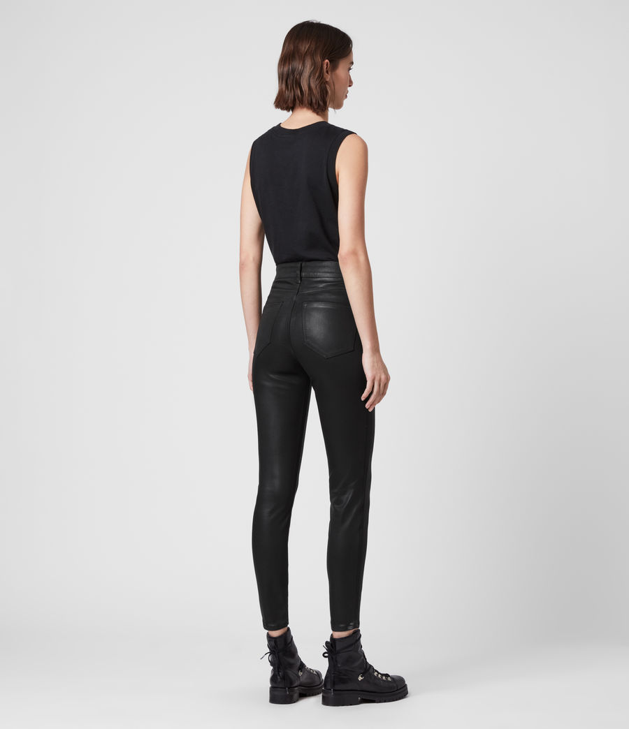 Mujer Dax Cropped High-Rise Superstretch Skinny Jeans, Coated Black (coated_black) - Image 5