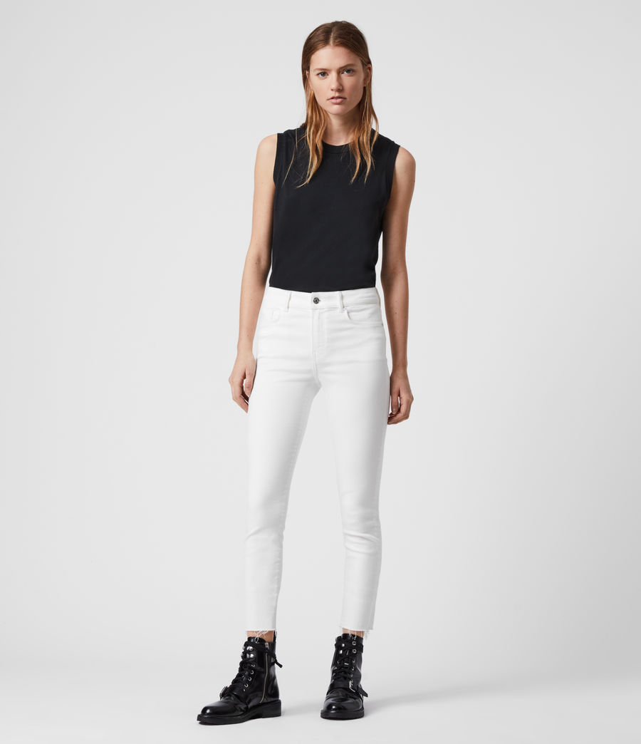 Women's Miller Ankle Mid-Rise Superstretch Skinny Jeans, White (white) - Image 1