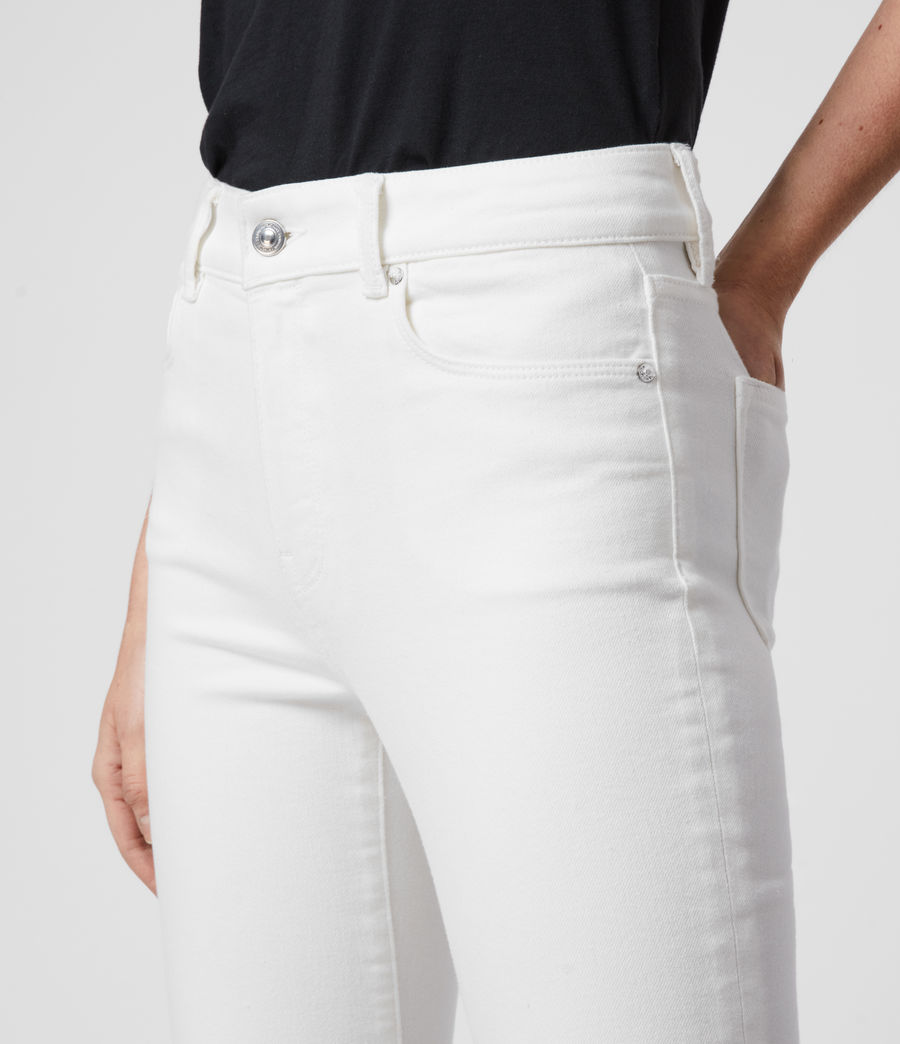 Women's Miller Ankle Mid-Rise Superstretch Skinny Jeans, White (white) - Image 2