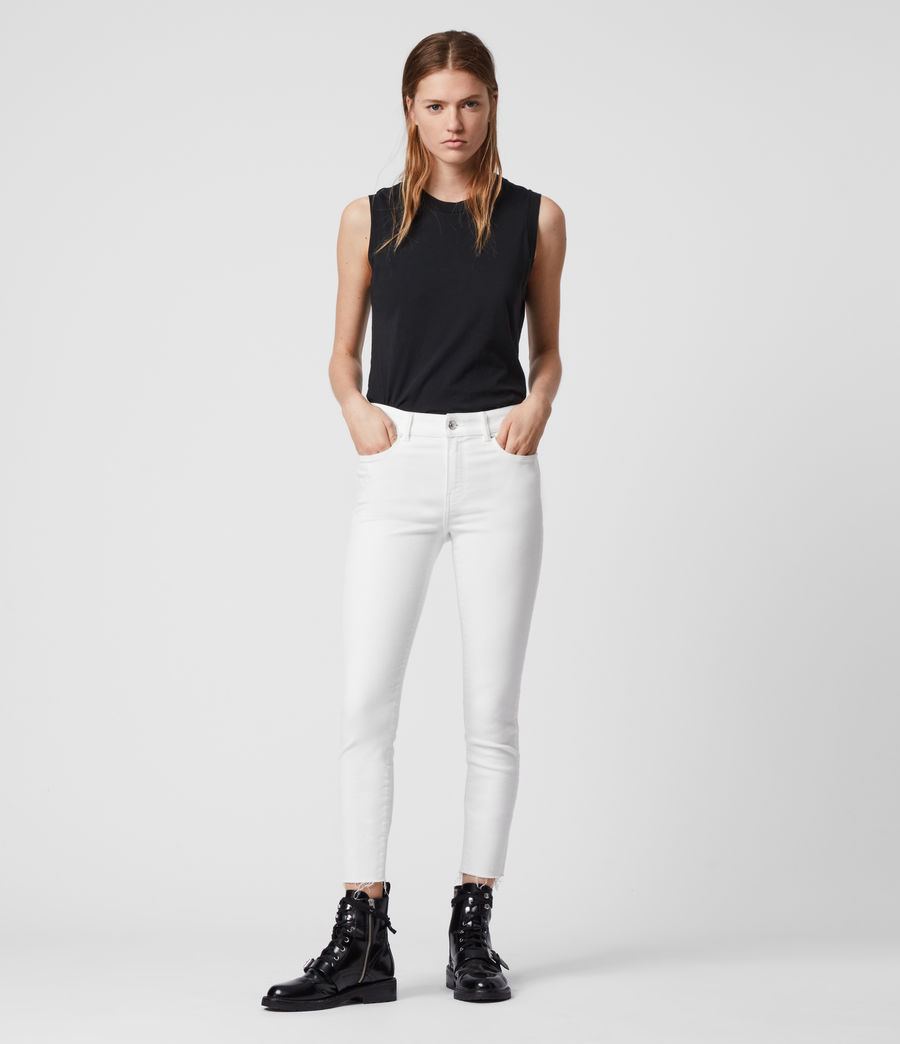 Women's Miller Ankle Mid-Rise Superstretch Skinny Jeans, White (white) - Image 4