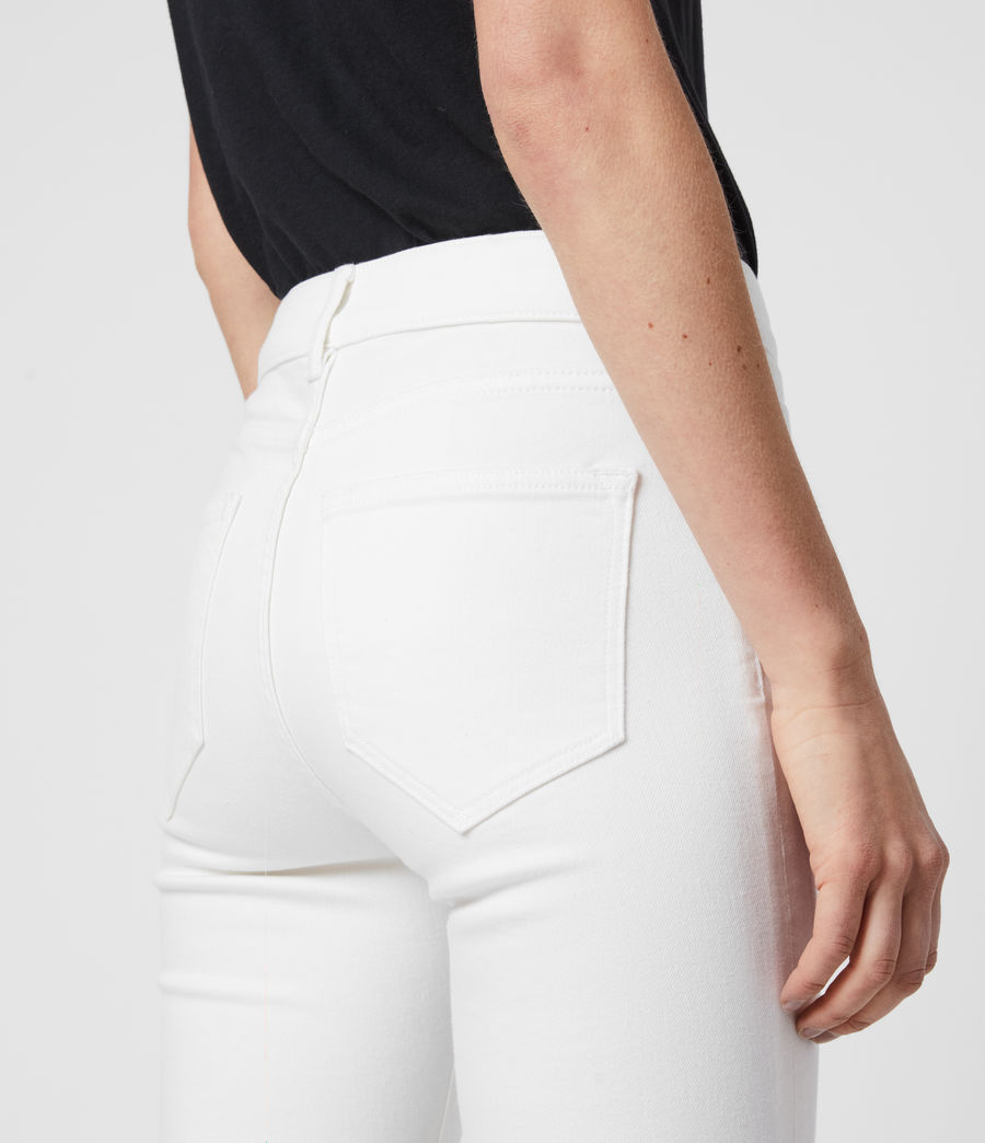 Women's Miller Ankle Mid-Rise Superstretch Skinny Jeans, White (white) - Image 5