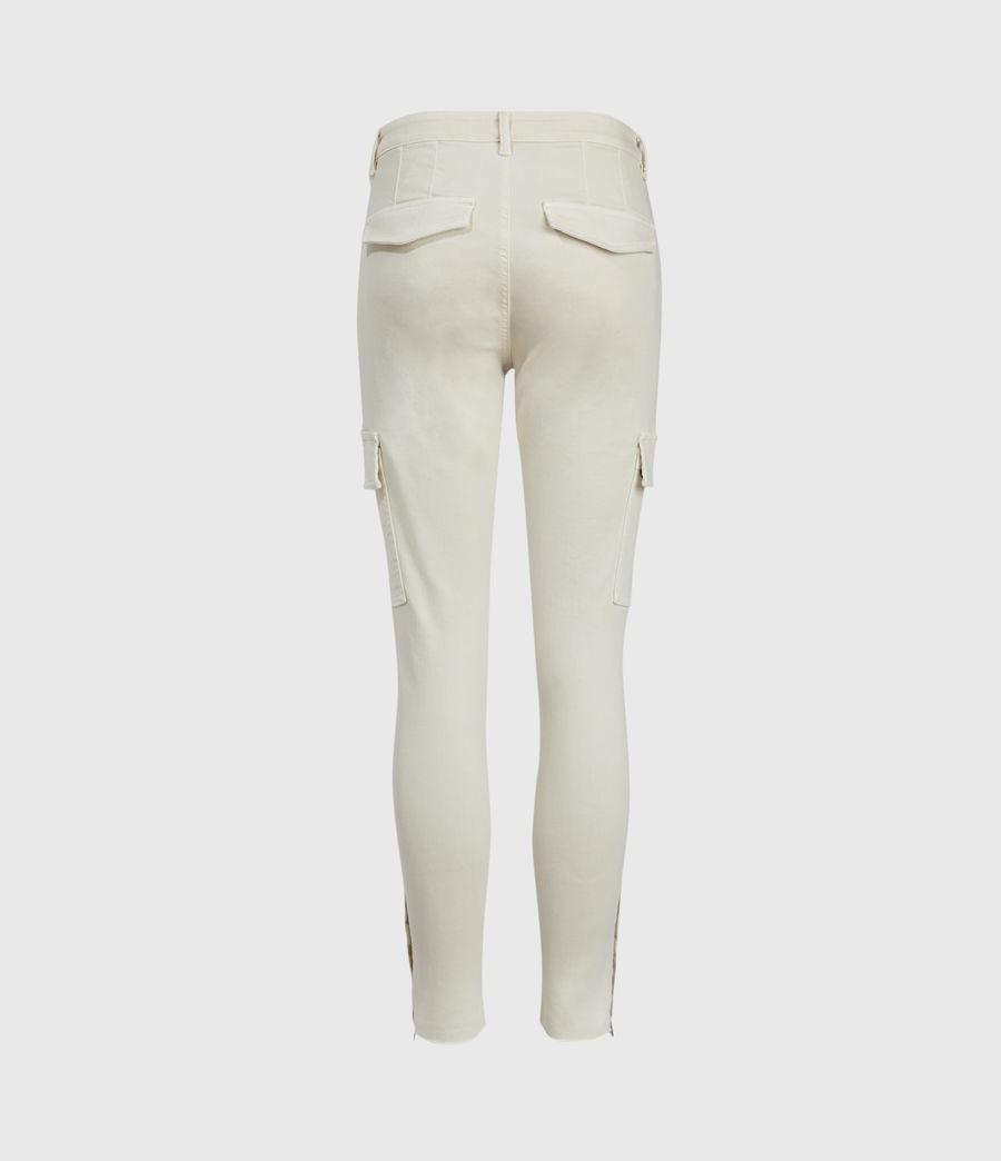 Womens Duran Mid-Rise Skinny Cargo Jeans, Ecru White (ecru_white) - Image 2