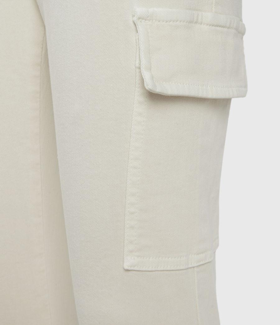 Women's Duran Mid-Rise Skinny Cargo Jeans, Ecru White (ecru_white) - Image 3
