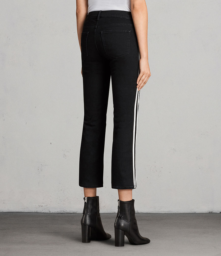 Women's Heidi Stripe Jeans (Black) - Image 2