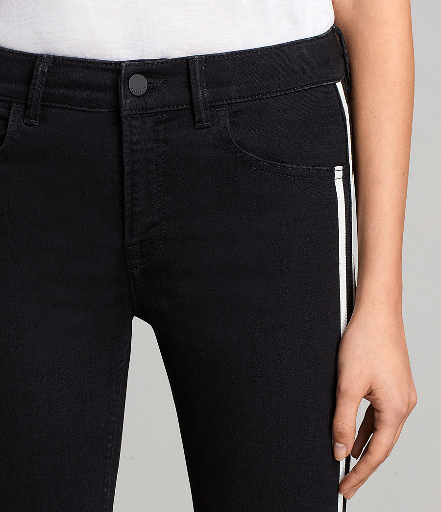 Women's Heidi Stripe Jeans (Black) - Image 3