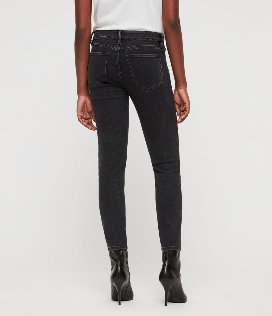 Donne Jeans Biker Skinny (washed_black) - Image 5