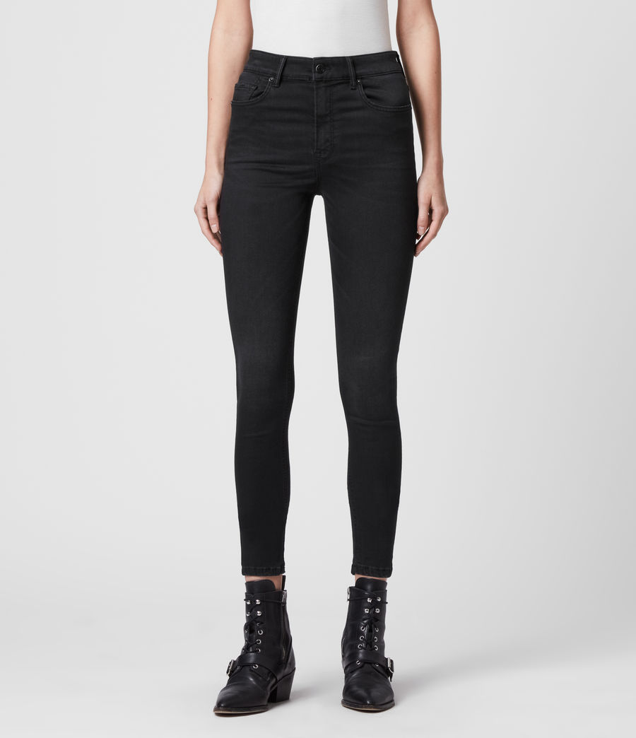 Womens Dax High-Rise Superstretch Skinny Jeans, Black (black) - Image 3